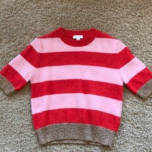 Striped Sweater-Red, Pink and Gold